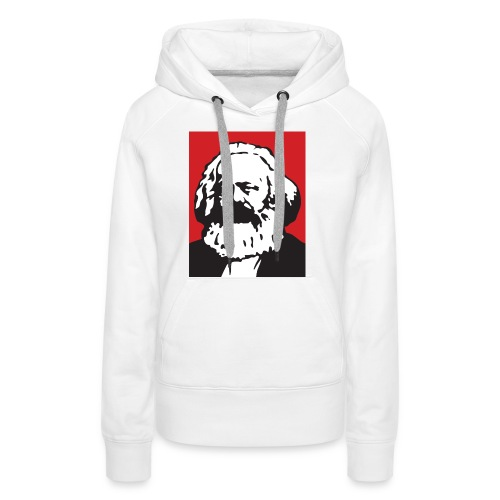 Karl Marx - Felpa con cappuccio premium da donna