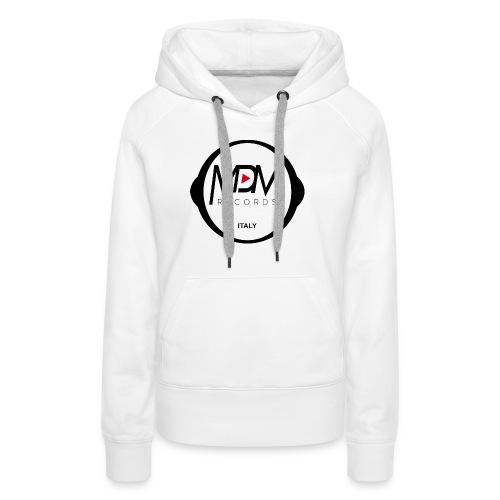 MDM Records - Felpa con cappuccio premium da donna