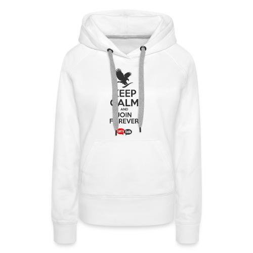 Keep Calm dark letters - Frauen Premium Hoodie
