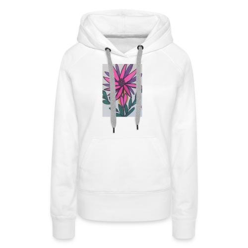 Flor - Sudadera con capucha premium para mujer