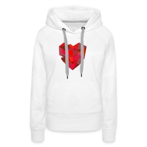 Poly-Heart - Sudadera con capucha premium para mujer