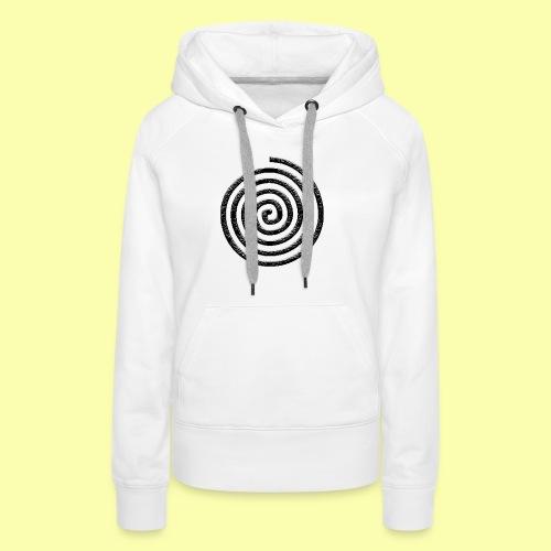 spirale - Felpa con cappuccio premium da donna