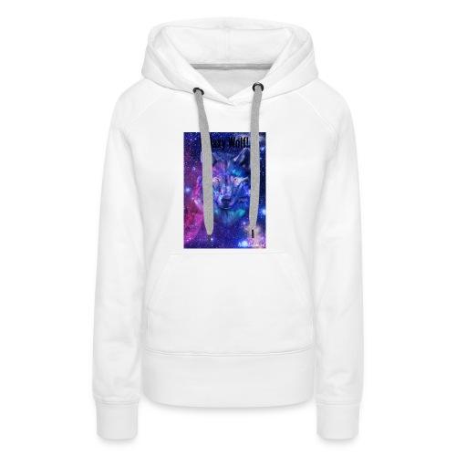 Galaxy wolf t-shirt - Women's Premium Hoodie