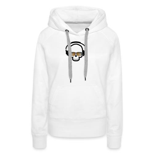 Skull Totenkopf Musik - Frauen Premium Hoodie