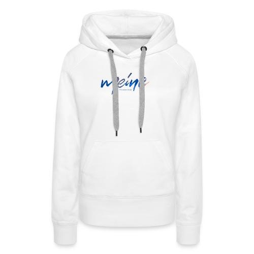 Meine Logo Blau - Frauen Premium Hoodie
