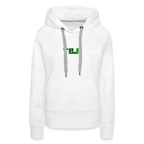 TGJ OFFICIAL LOGO - Dame Premium hættetrøje