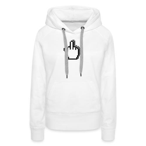 vurtual Middle Finger - Sweat-shirt à capuche Premium pour femmes
