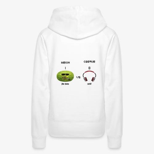 Melon vs Casque - Sweat-shirt à capuche Premium pour femmes
