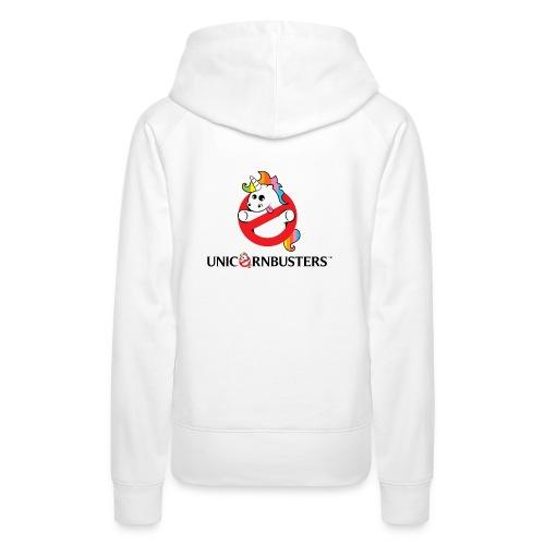 Unicorn Busters (Logo + Text) - Frauen Premium Hoodie