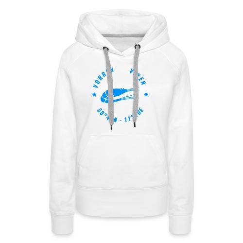 Vorren Logo MODERN [Blue] - Premiumluvtröja dam