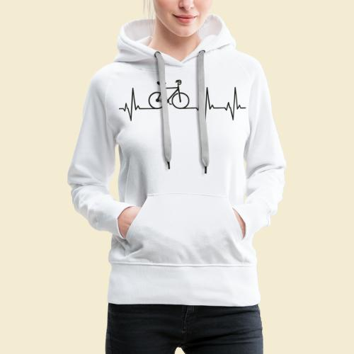 Kunstrad   Artistic Cycling   Heart Monitor Black - Frauen Premium Hoodie