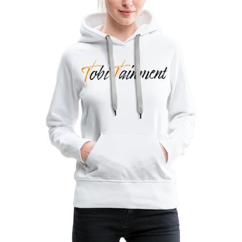 TobiTainment Logo Black - Frauen Premium Hoodie