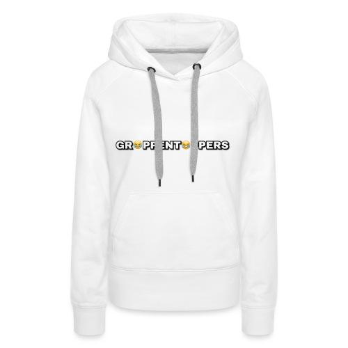 Merchandise met Grappentappers tekst - Vrouwen Premium hoodie