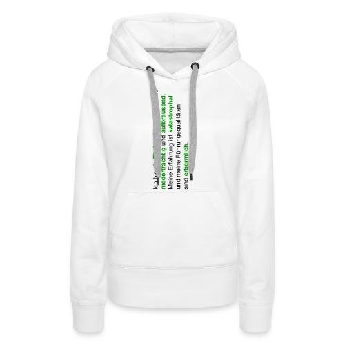 hattrickshirtekel - Frauen Premium Hoodie