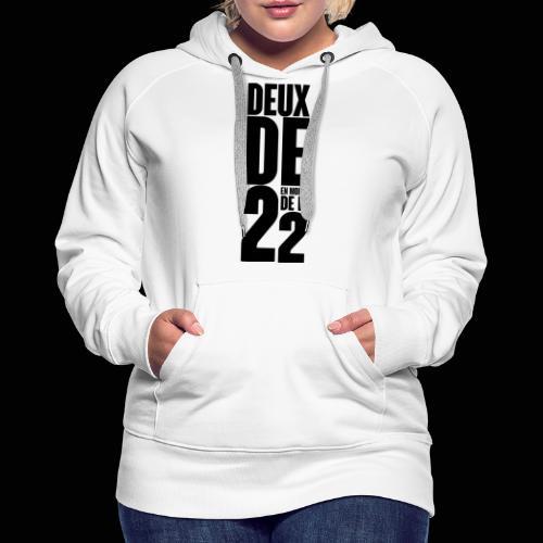 Deux De 2 Official Merch' - Sweat-shirt à capuche Premium pour femmes