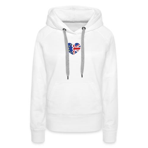 Royaume-Uni et Gibraltar Union européenne Heart référendum d'adhésion - Sweat-shirt à capuche Premium pour femmes