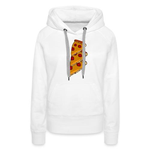 pizza - Dame Premium hættetrøje