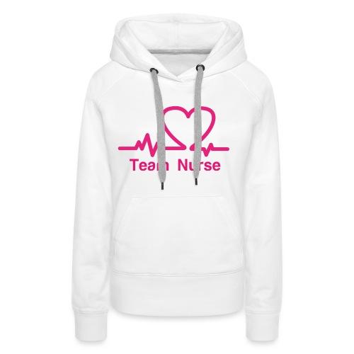 logo team nurse - Sweat-shirt à capuche Premium pour femmes