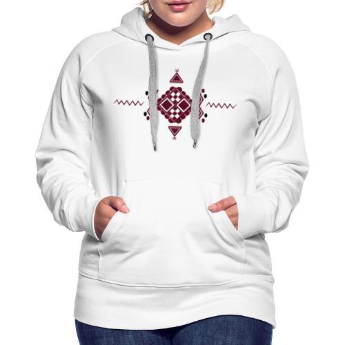 Motif Berbère MMB011 - Sweat-shirt à capuche Premium pour femmes