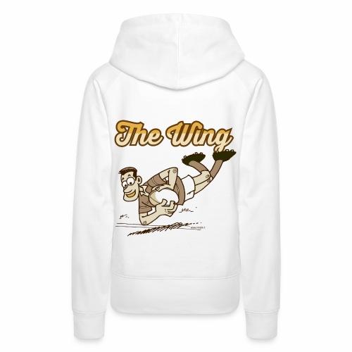 Wing_Marplo_mug - Felpa con cappuccio premium da donna