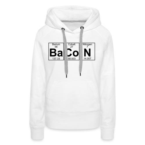 Ba-Co-N (bacon) - Full - Women's Premium Hoodie