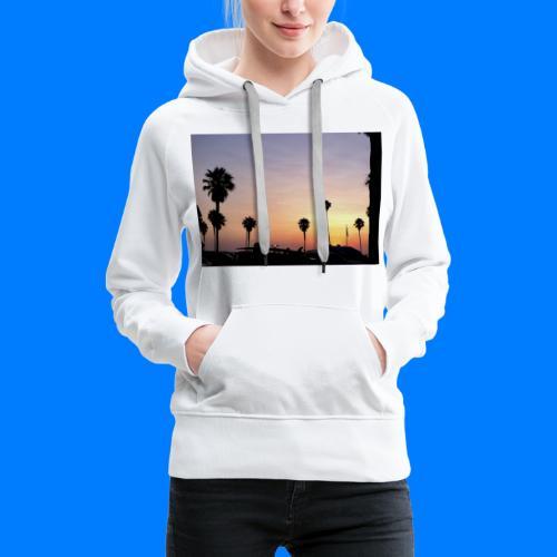 Sunset in LA - Tramonto a Los Angeles - Felpa con cappuccio premium da donna