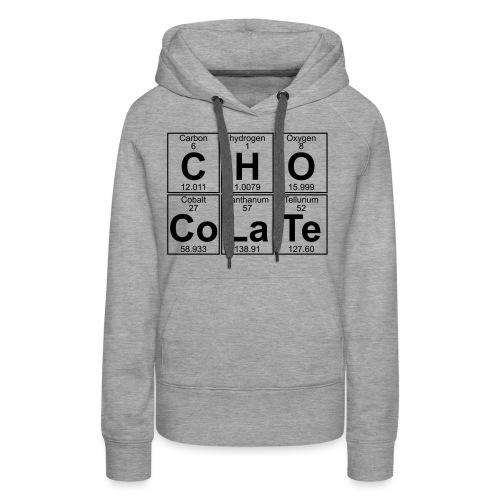 C-H-O-Co-La-Te (chocolate) - Full - Women's Premium Hoodie
