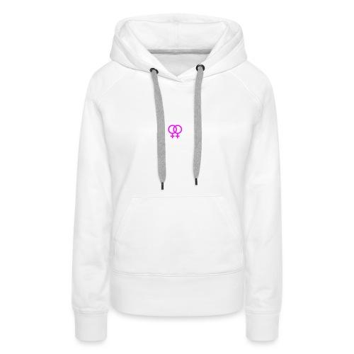 lesbian logo - Sweat-shirt à capuche Premium pour femmes
