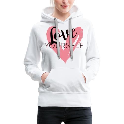 Love Yourself Logo von Pascal Voggenhuber - Frauen Premium Hoodie