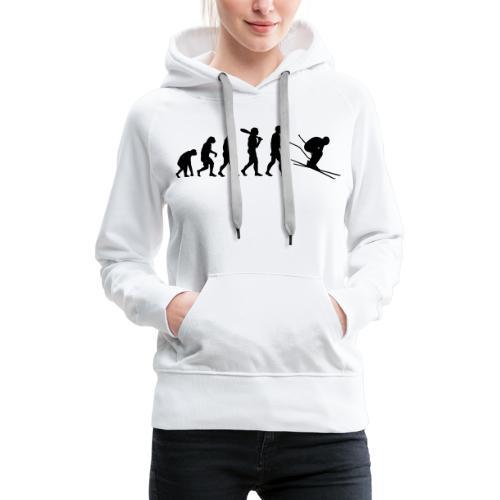 Evolution Skifahrer - Frauen Premium Hoodie