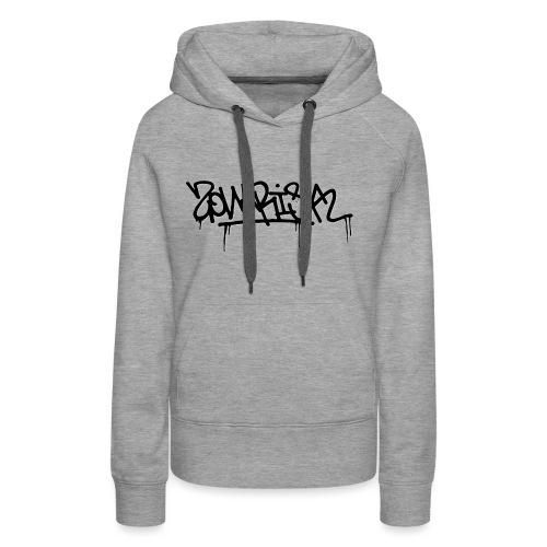 Zonarisk Logo Noir - Sweat-shirt à capuche Premium pour femmes