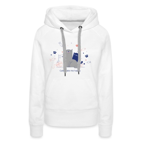 Cats make me happy - Frauen Premium Hoodie