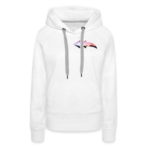 color arrow - Vrouwen Premium hoodie