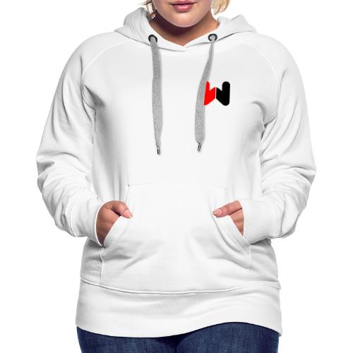 W (Black / Red Logo) - Women's Premium Hoodie
