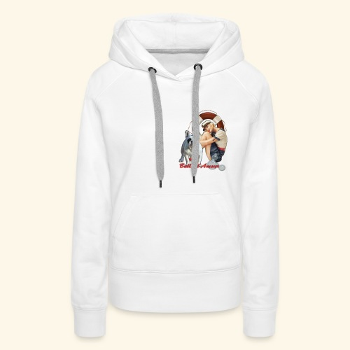 Pin Up marin bouledogue - Sweat-shirt à capuche Premium pour femmes