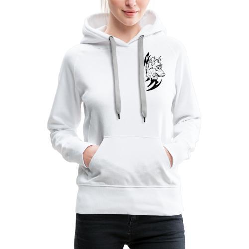 Loup Tribal - Sweat-shirt à capuche Premium pour femmes