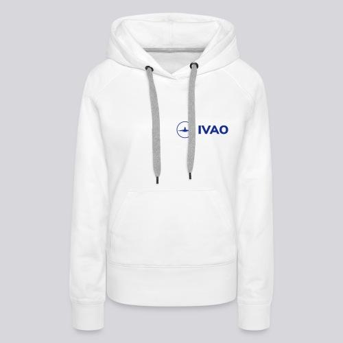 IVAO (Logo bleu complet) - Sweat-shirt à capuche Premium pour femmes