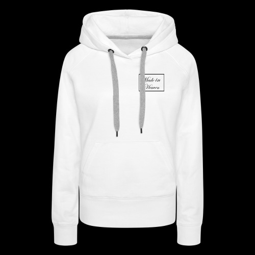 Made in Heaven Logo ,Black on white - Women's Premium Hoodie