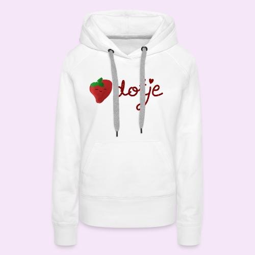 Baby aardbei Dotje - cute - Vrouwen Premium hoodie