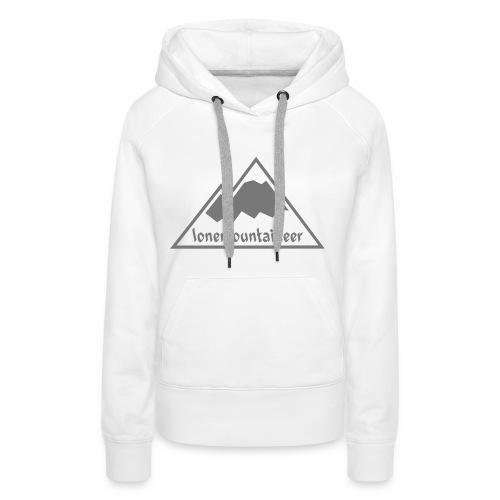 Lonemountaineer logo wht - Women's Premium Hoodie