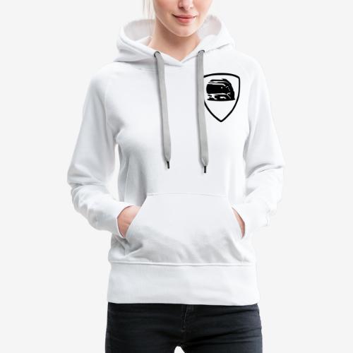 badge-helmet-team - Sweat-shirt à capuche Premium pour femmes