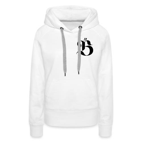 B logo - Premiumluvtröja dam