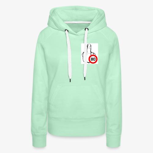 Doigt Coeur - Sweat-shirt à capuche Premium pour femmes