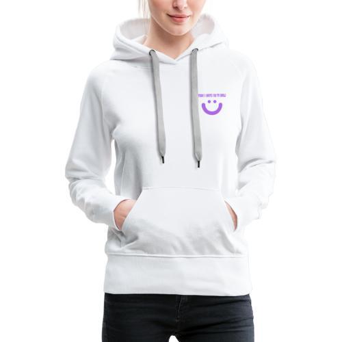 White smile collection - Sudadera con capucha premium para mujer