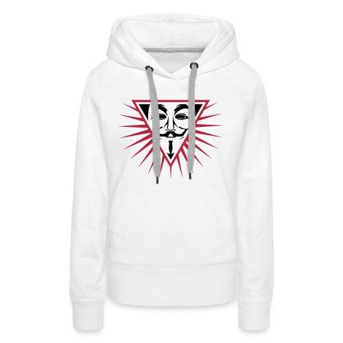 Anonymous NWO logo 3c - Sweat-shirt à capuche Premium pour femmes