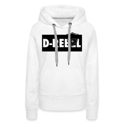 DREBEL SIDE AND STICKER - Vrouwen Premium hoodie