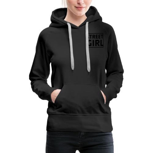 girl - Sweat-shirt à capuche Premium pour femmes