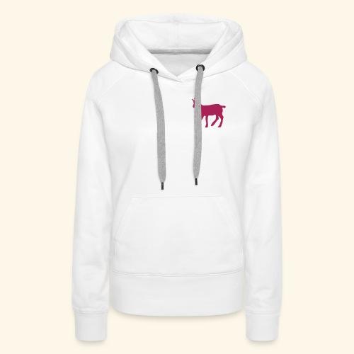 Chamois Bebe (Vector) - Sweat-shirt à capuche Premium pour femmes