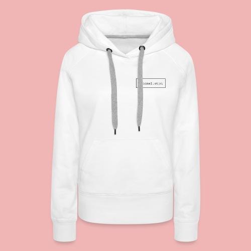 minimalistic desing endprodukt png - Frauen Premium Hoodie