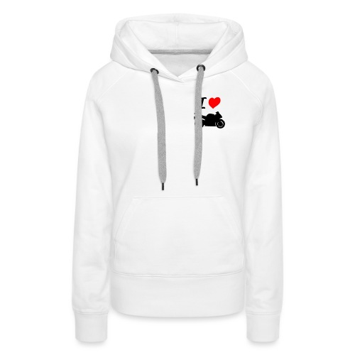 I LOVE MOTO - Sweat-shirt à capuche Premium pour femmes